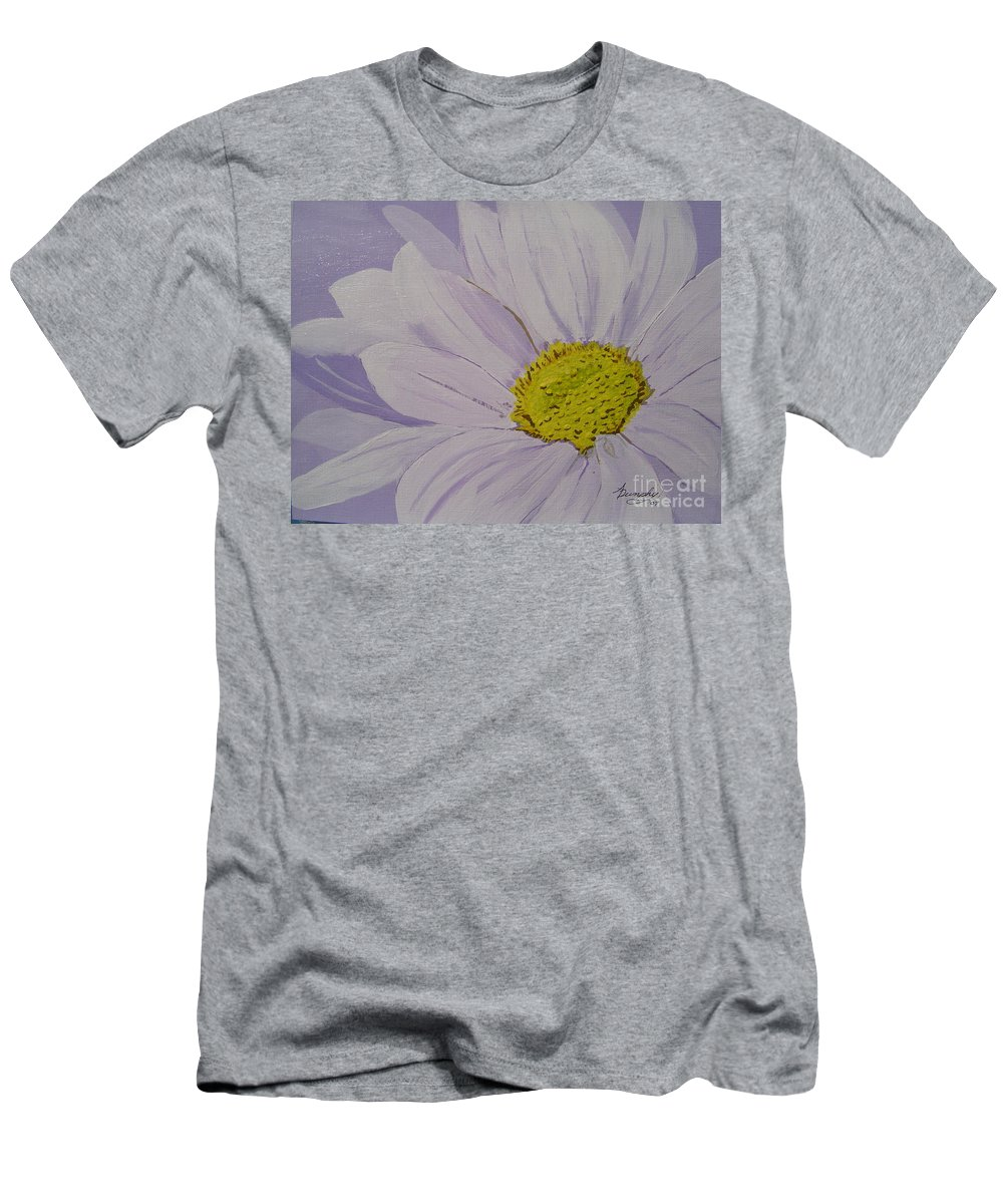 Daisy Men's T-Shirt (Athletic Fit) featuring the painting Daisy by Anthony Dunphy