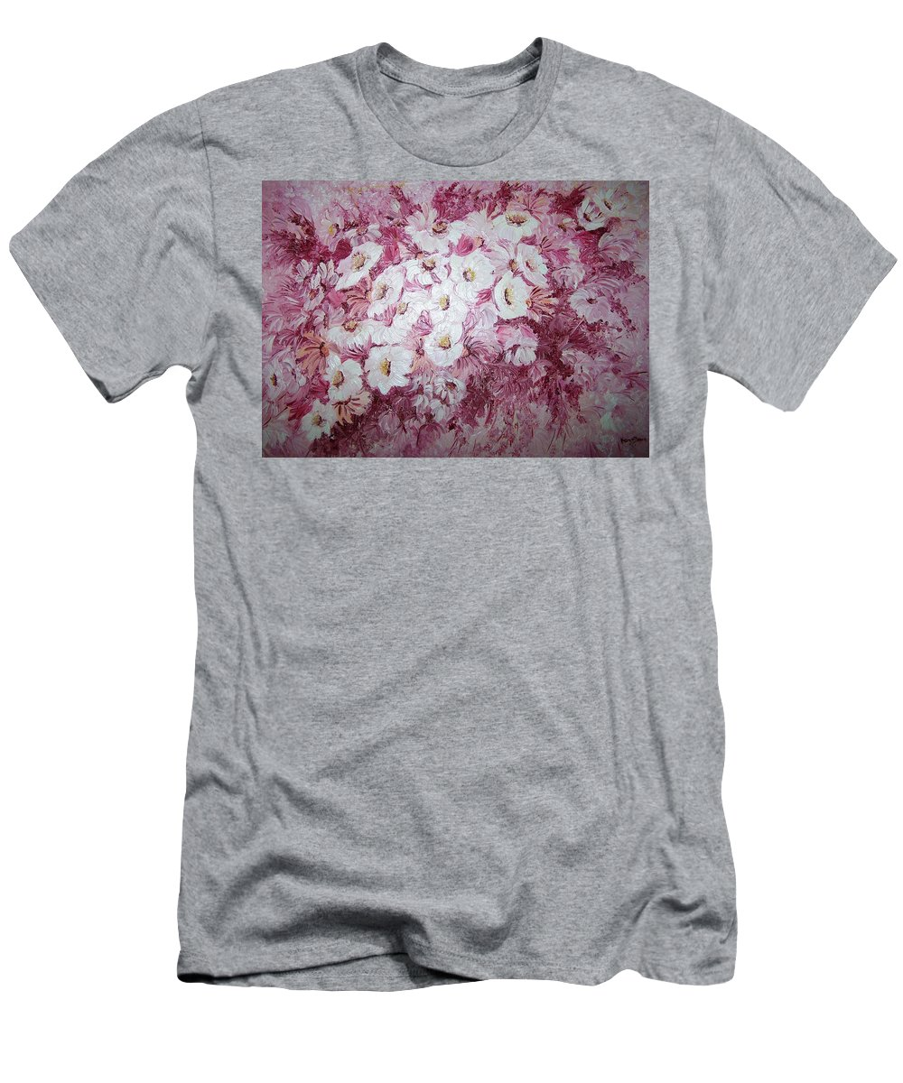 Men's T-Shirt (Athletic Fit) featuring the painting Daisy Blush by Karin Dawn Kelshall- Best