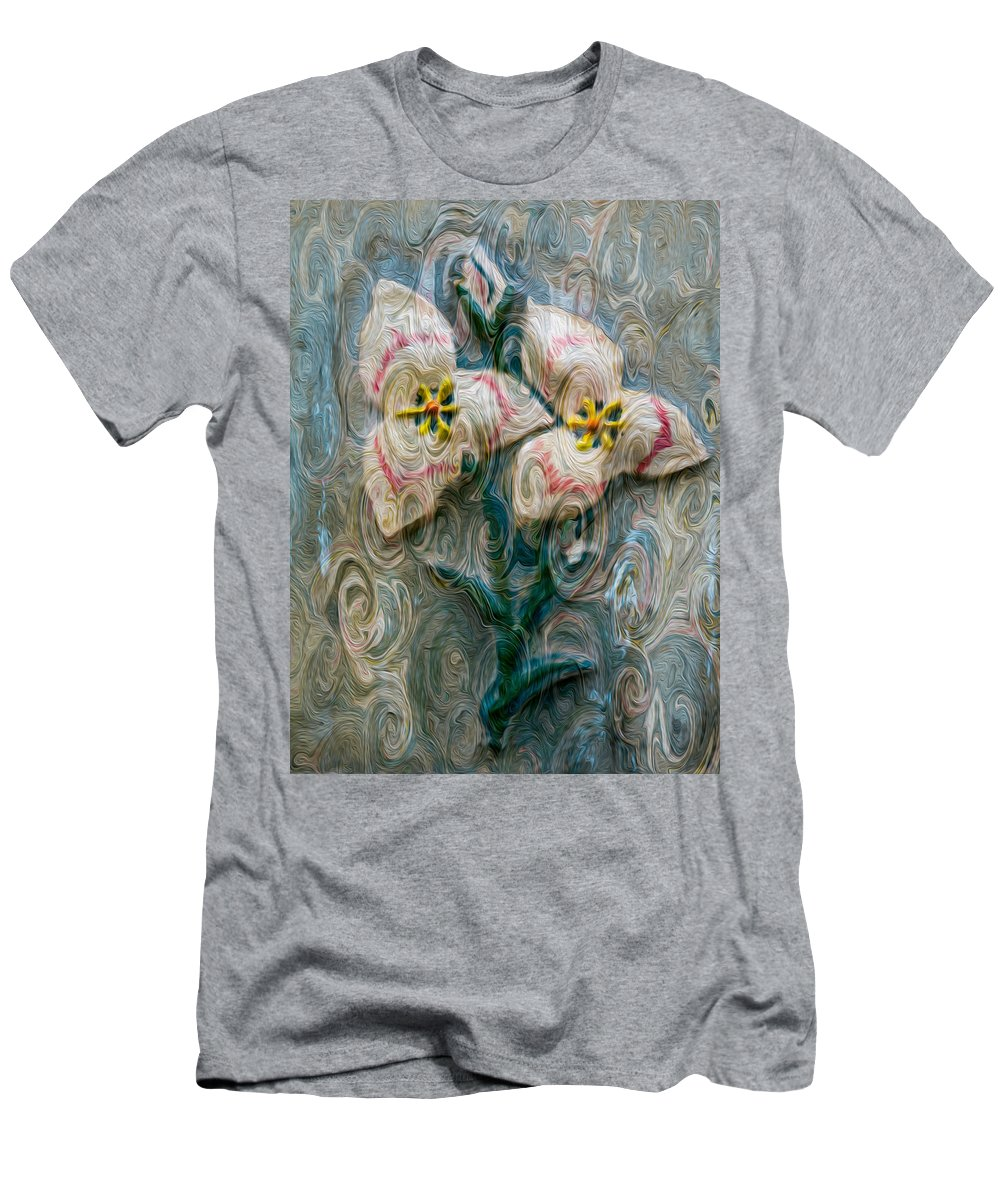 North Cascades Men's T-Shirt (Athletic Fit) featuring the painting Dances With Flowers by Omaste Witkowski