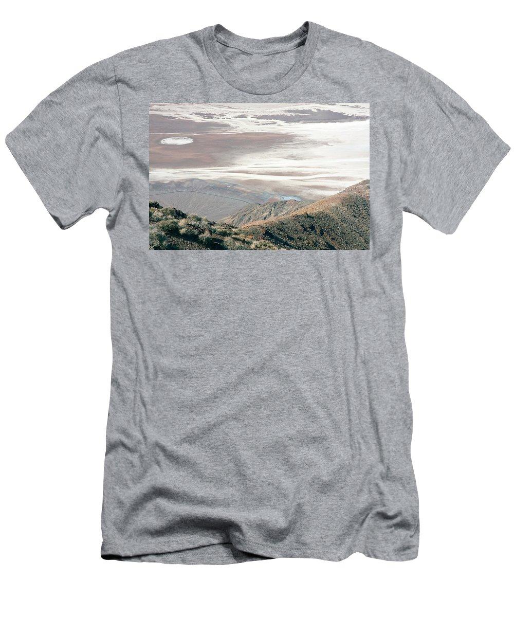 Death Valley Men's T-Shirt (Athletic Fit) featuring the photograph Dante's View #1 by Stuart Litoff