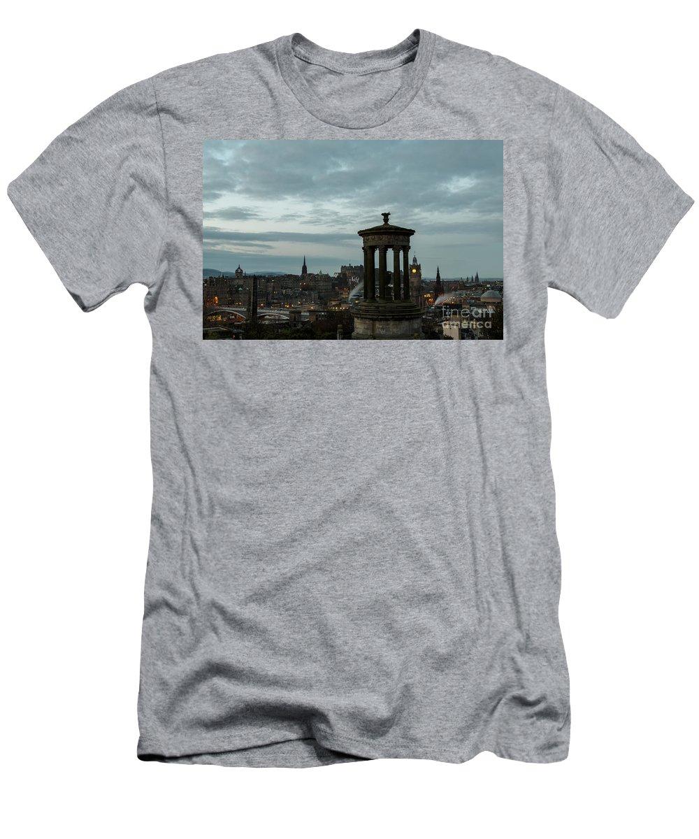 Edinburgh Men's T-Shirt (Athletic Fit) featuring the photograph Dawn In Edinburgh by John Daly