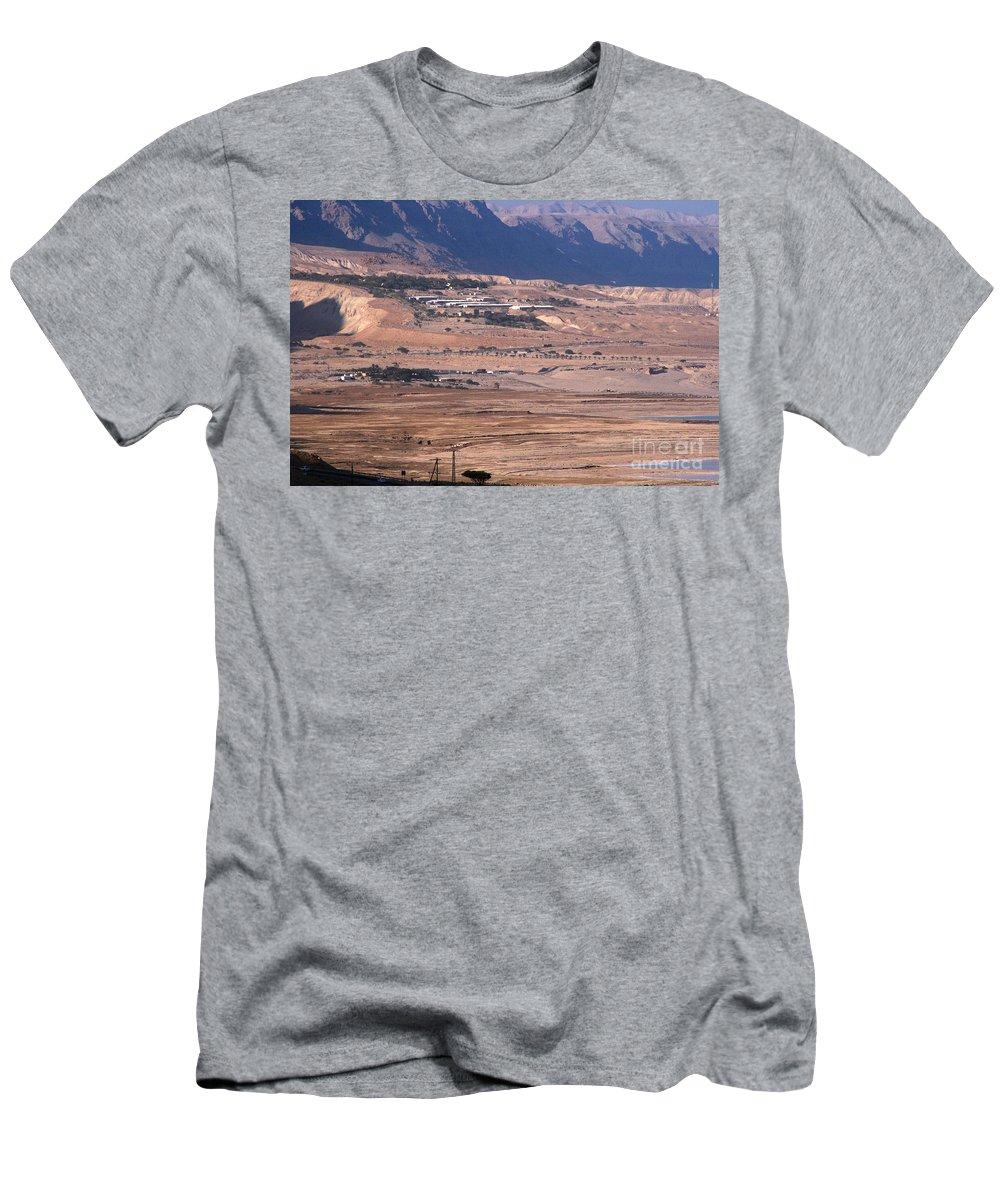 Discount Codes Men's T-Shirt (Athletic Fit) featuring the photograph Dead Sea by Doc Braham