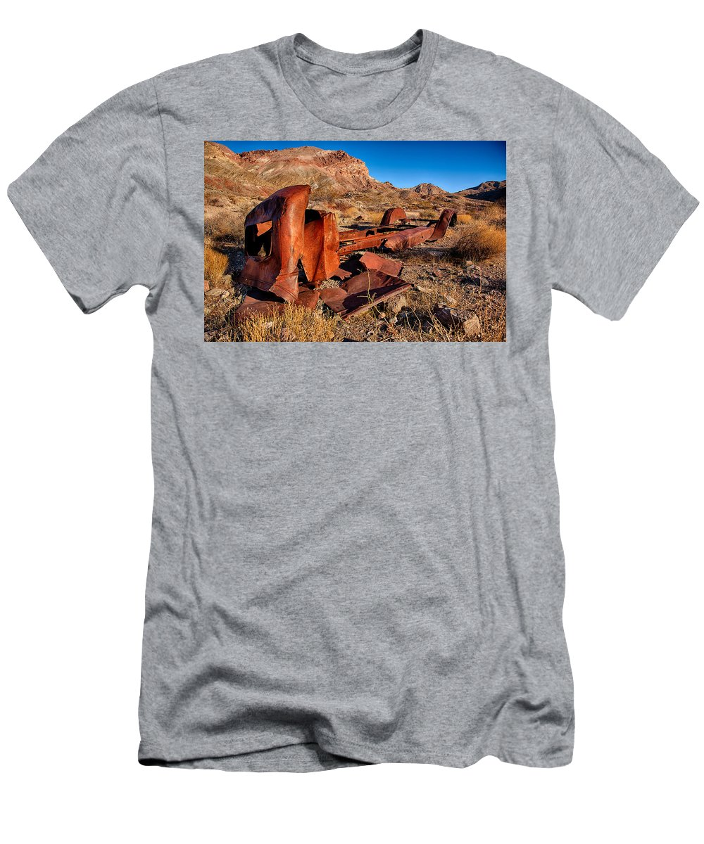 Men's T-Shirt (Athletic Fit) featuring the photograph Death Valley Truck by Peter Tellone