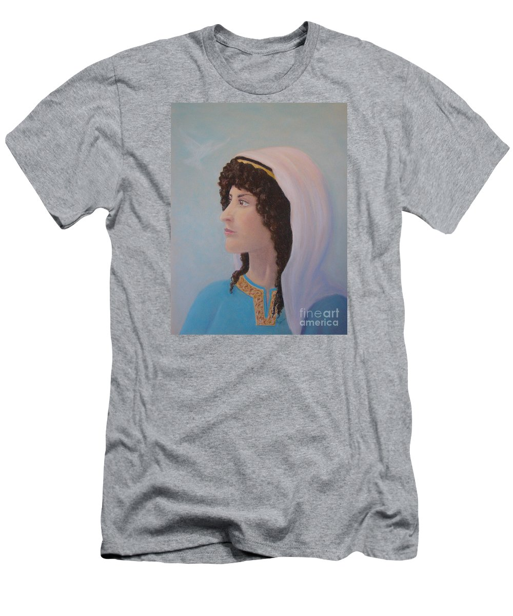 Prophetess Men's T-Shirt (Athletic Fit) featuring the pastel Deborah  Prophetess And Judge by Lynn Quinn