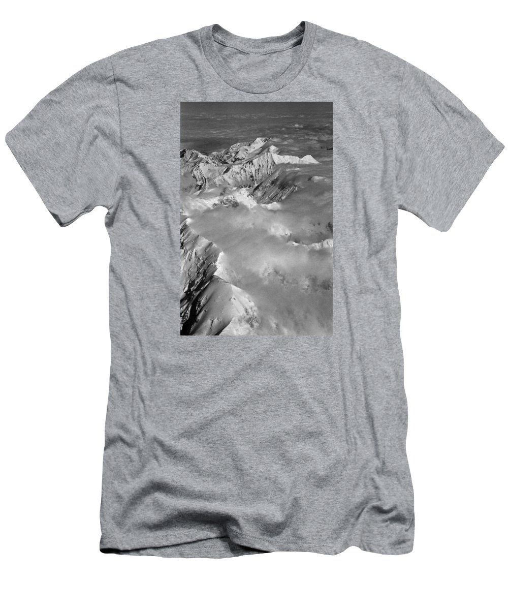 North America Men's T-Shirt (Athletic Fit) featuring the photograph Denali ... by Juergen Weiss
