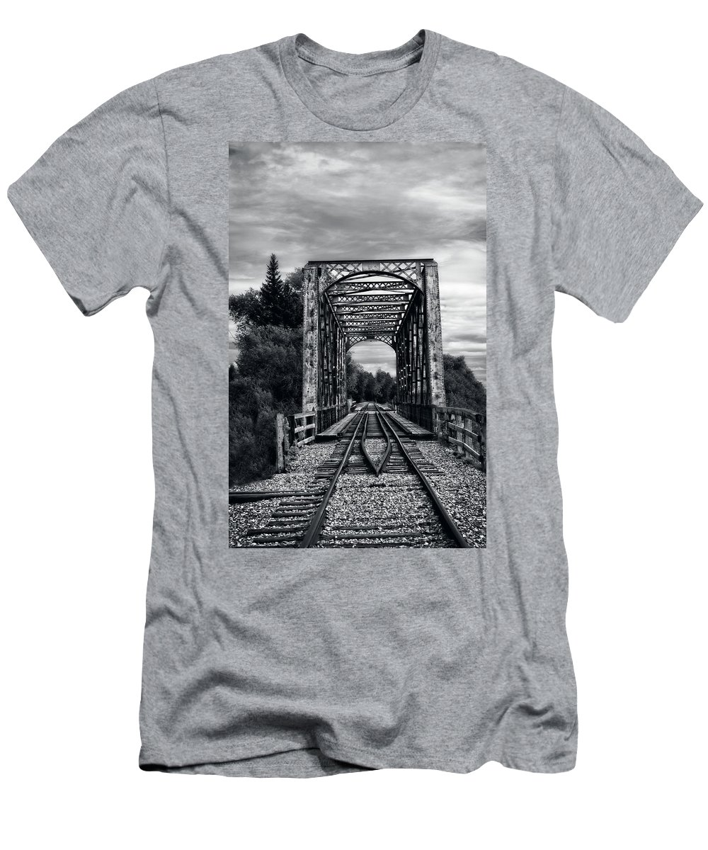 Idaho Falls Men's T-Shirt (Athletic Fit) featuring the photograph Destination by Image Takers Photography LLC