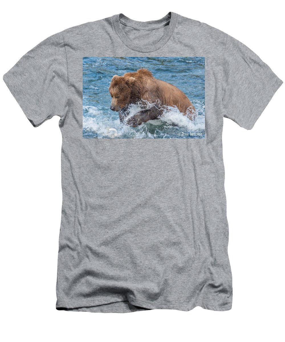 Alaska Men's T-Shirt (Athletic Fit) featuring the photograph Diving For Salmon by Joan Wallner