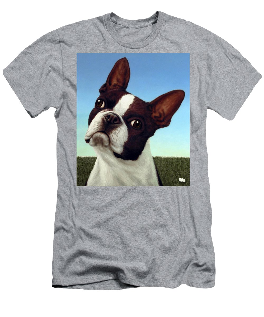 Dog T-Shirt featuring the painting Dog-Nature 4 by James W Johnson
