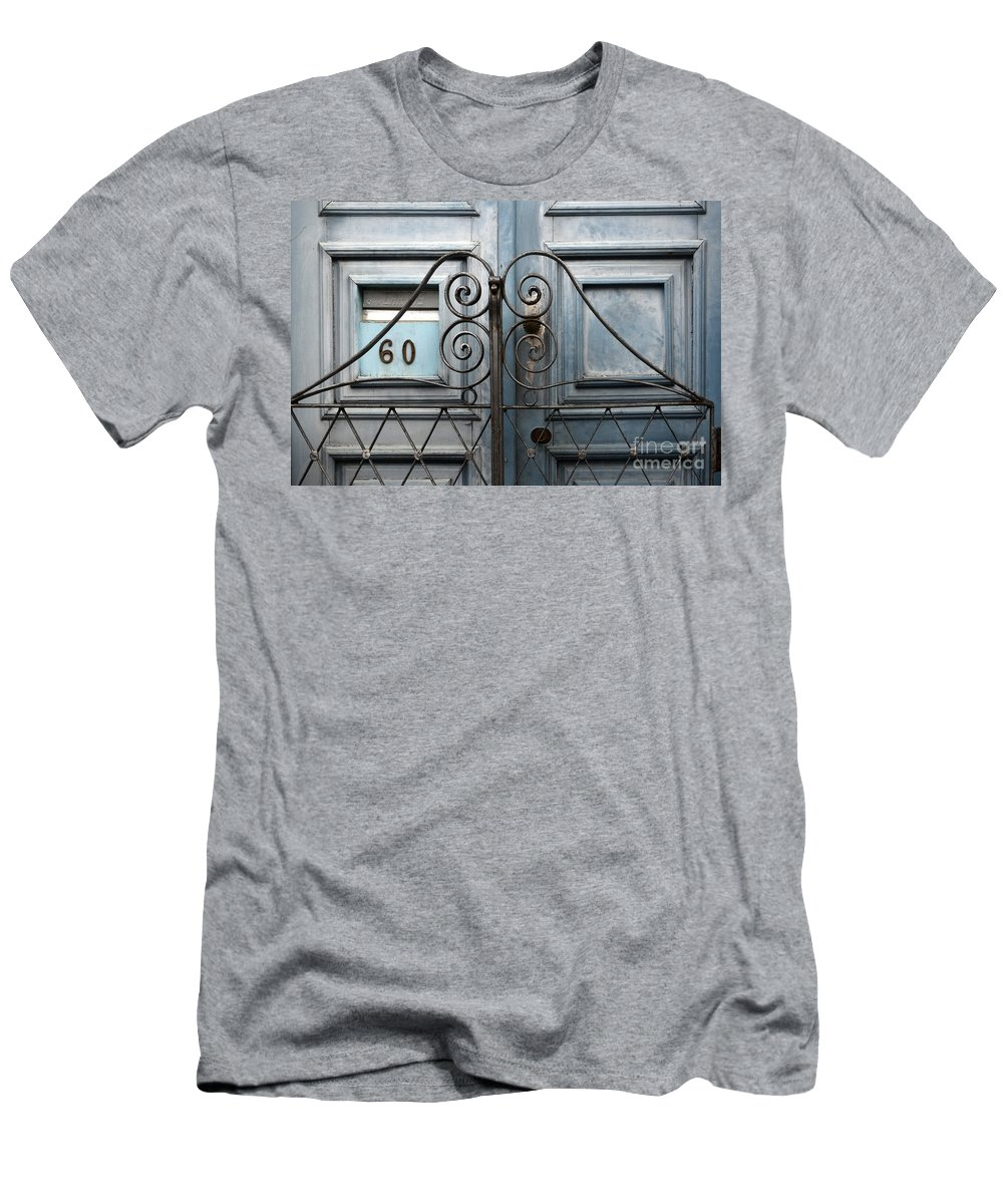 Door Men's T-Shirt (Athletic Fit) featuring the photograph Doors And Windows Salvador Brazil 2 by Bob Christopher