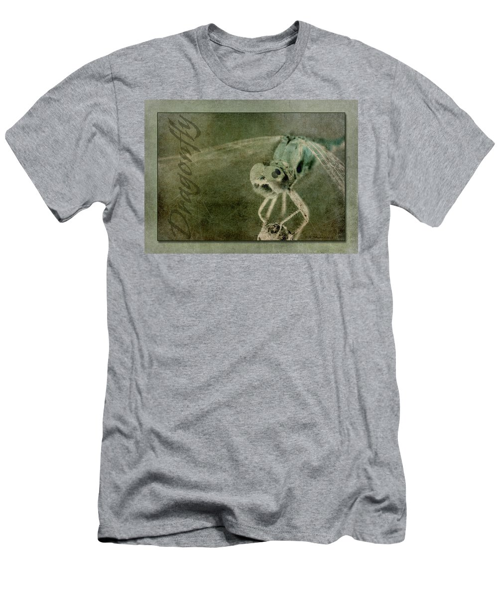 Dragonfly Men's T-Shirt (Athletic Fit) featuring the photograph Dragonfly II by WB Johnston