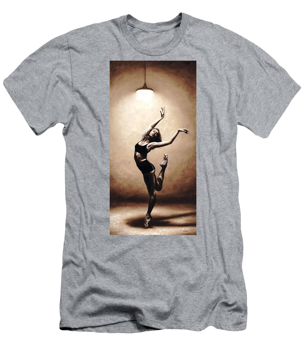Dancer Men's T-Shirt (Athletic Fit) featuring the painting Dramatic Eclecticism by Richard Young