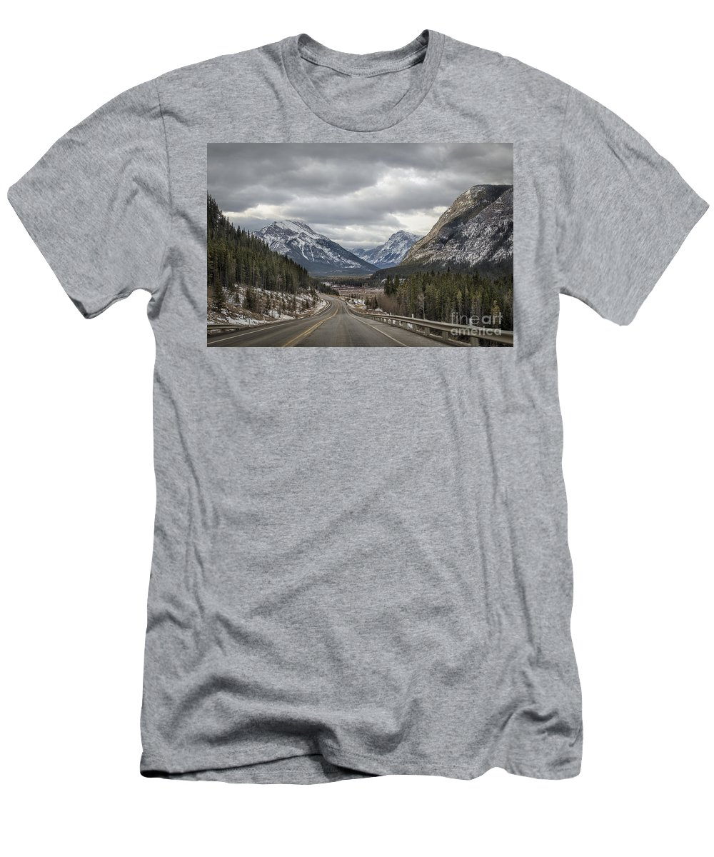 Banff Men's T-Shirt (Athletic Fit) featuring the photograph Dream Journey by Evelina Kremsdorf
