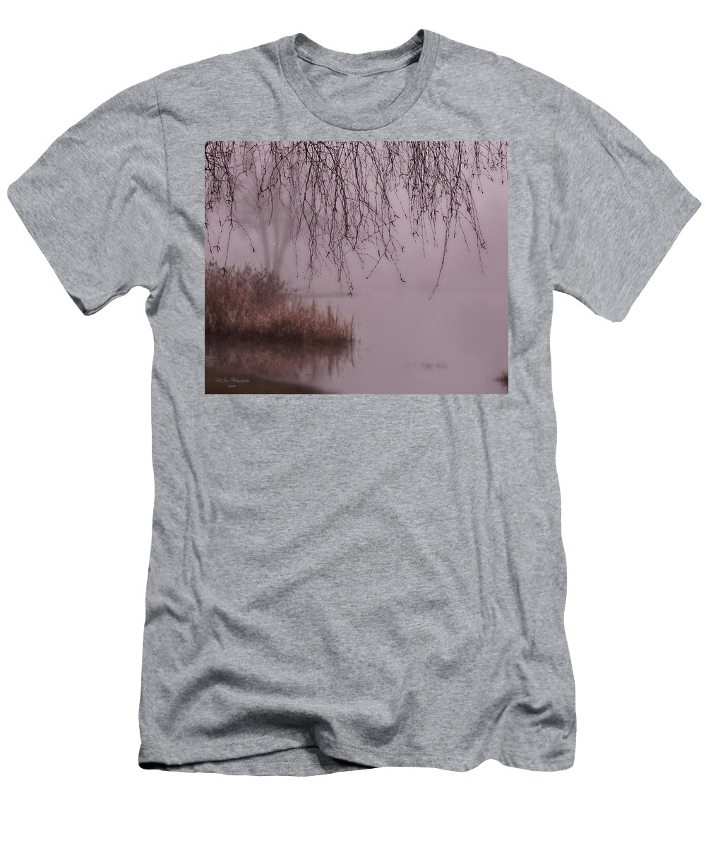 Fog Men's T-Shirt (Athletic Fit) featuring the photograph Dreams Of The Heart by Jeanette C Landstrom
