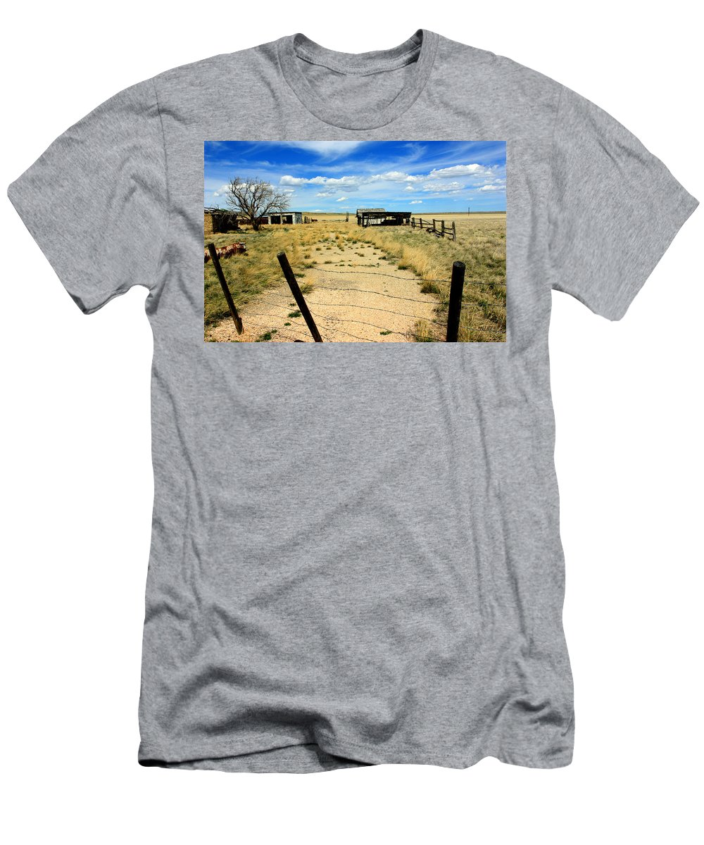 Wyoming Men's T-Shirt (Athletic Fit) featuring the photograph Dried Out by Amanda Stadther