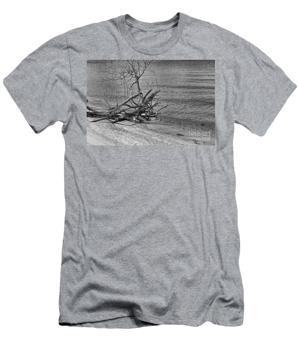 Driftwood Men's T-Shirt (Athletic Fit) featuring the photograph Driftwood by Olga Hamilton