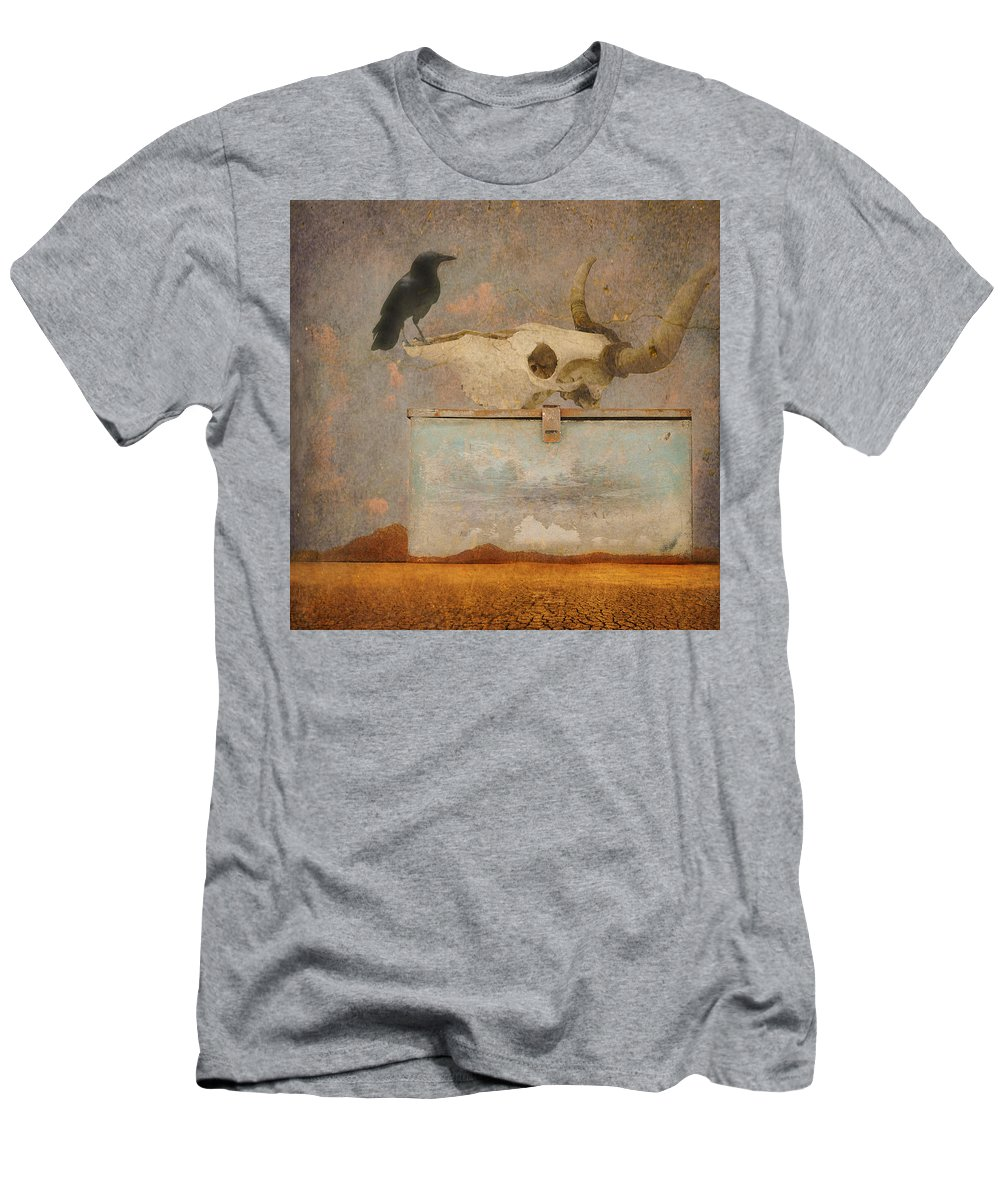 Water Men's T-Shirt (Athletic Fit) featuring the photograph Drought And The Illusion Of Water by Jeff Burgess