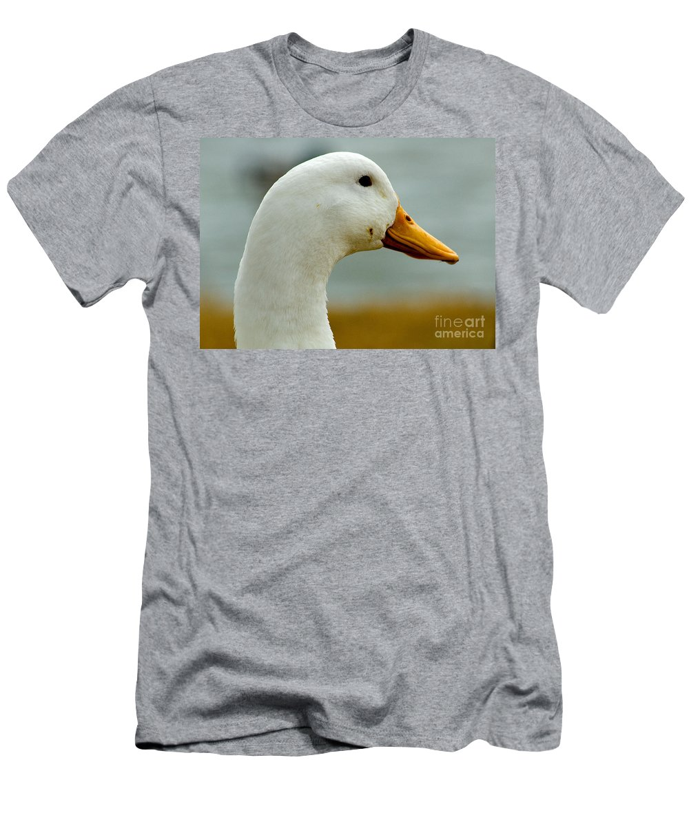 Duck Head Photograph Men's T-Shirt (Athletic Fit) featuring the photograph Duck Head by Mae Wertz