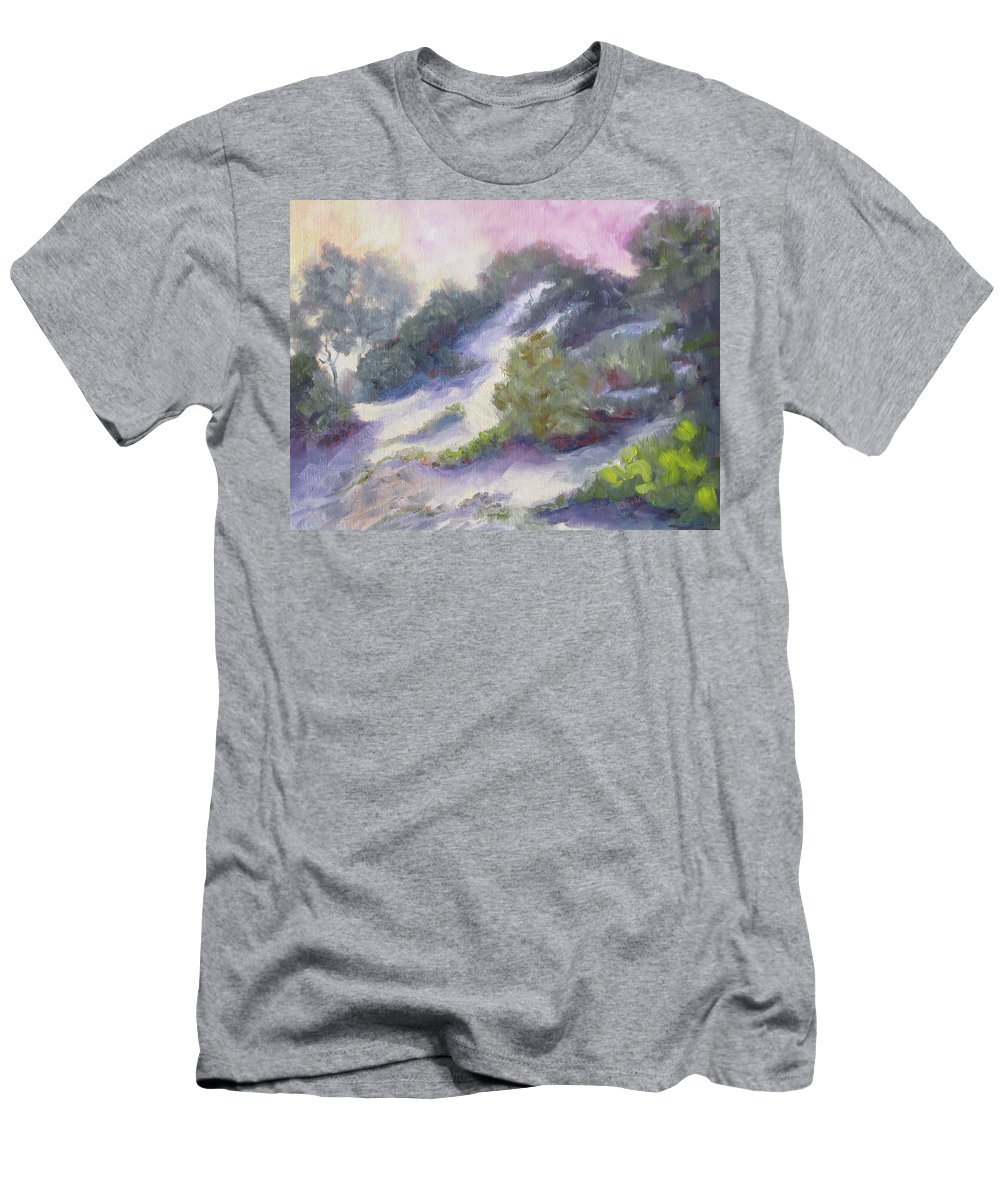 Dune Men's T-Shirt (Athletic Fit) featuring the painting Dune by Susan Richardson
