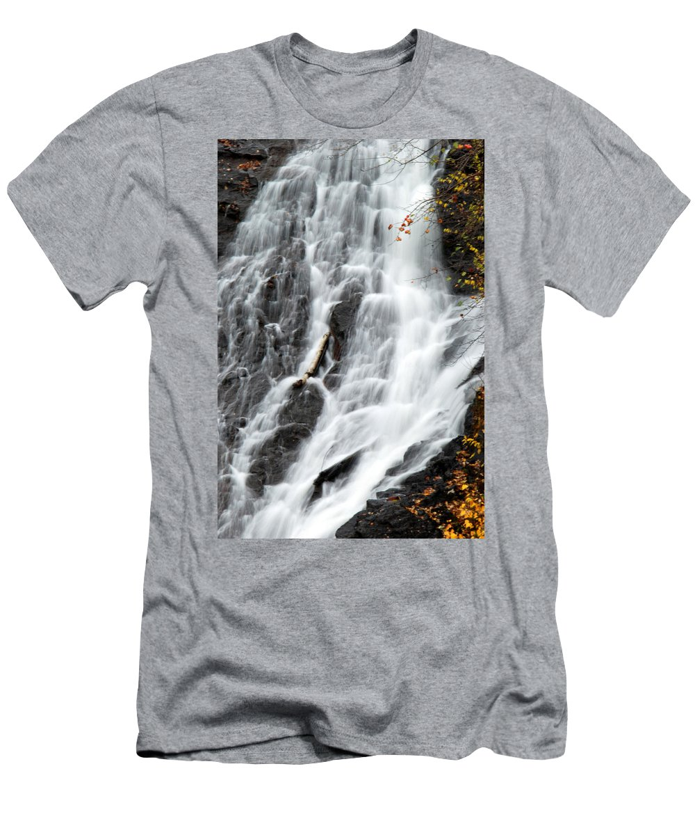 Waterfall Men's T-Shirt (Athletic Fit) featuring the photograph Eagle River Falls by Optical Playground By MP Ray