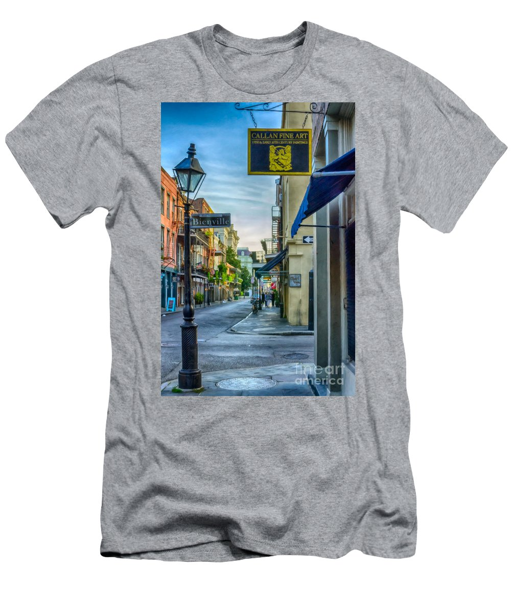 2014 Men's T-Shirt (Athletic Fit) featuring the photograph Early Morning In French Quarter Nola by Kathleen K Parker