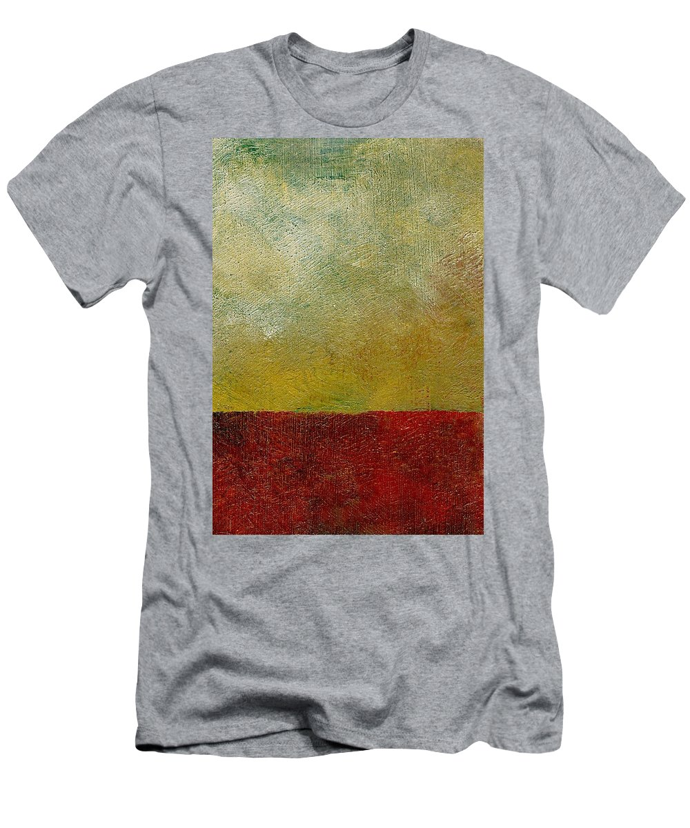 Abstract Landscape Men's T-Shirt (Athletic Fit) featuring the painting Earth Study One by Michelle Calkins