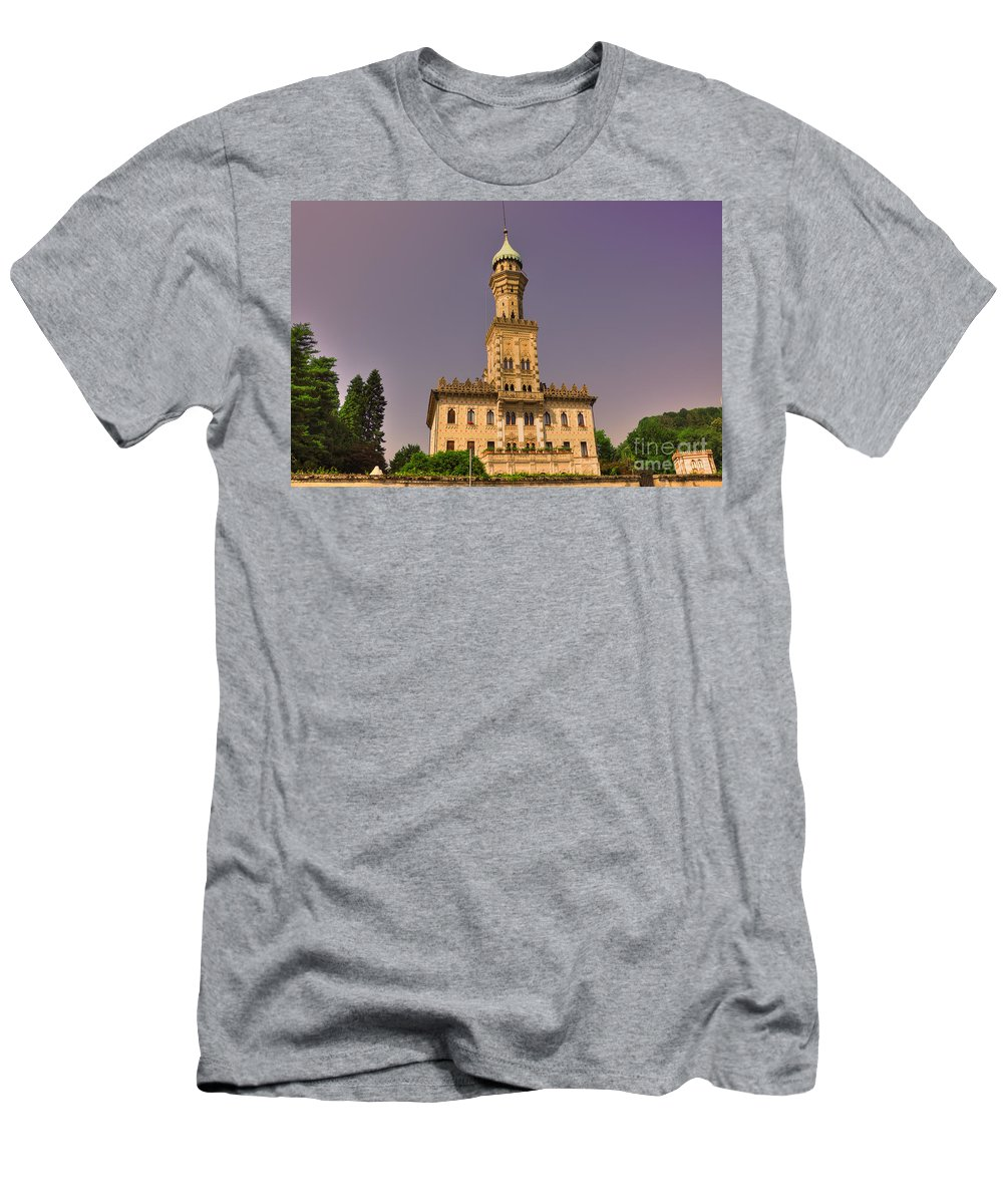 Building House Men's T-Shirt (Athletic Fit) featuring the photograph Elegant Antique Building by Mats Silvan
