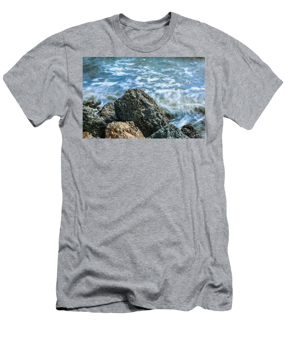 Jetty Men's T-Shirt (Athletic Fit) featuring the photograph Elements II by Paula OMalley