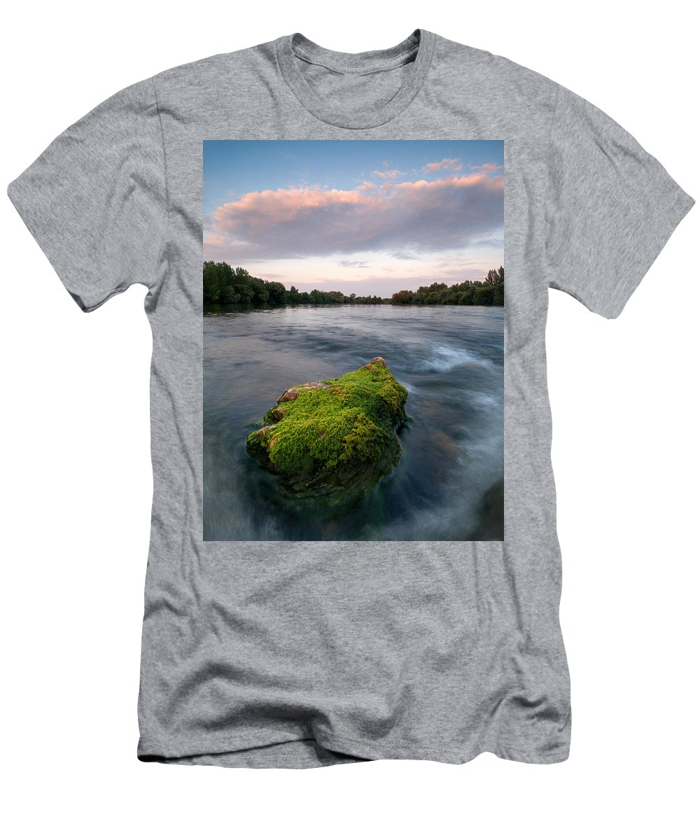 Landscapes Men's T-Shirt (Athletic Fit) featuring the photograph Emerging by Davorin Mance