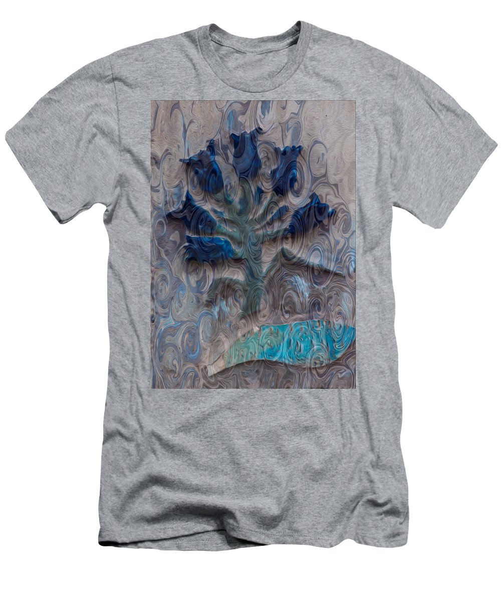 North Cascades Men's T-Shirt (Athletic Fit) featuring the painting Enchanted Bluebells by Omaste Witkowski
