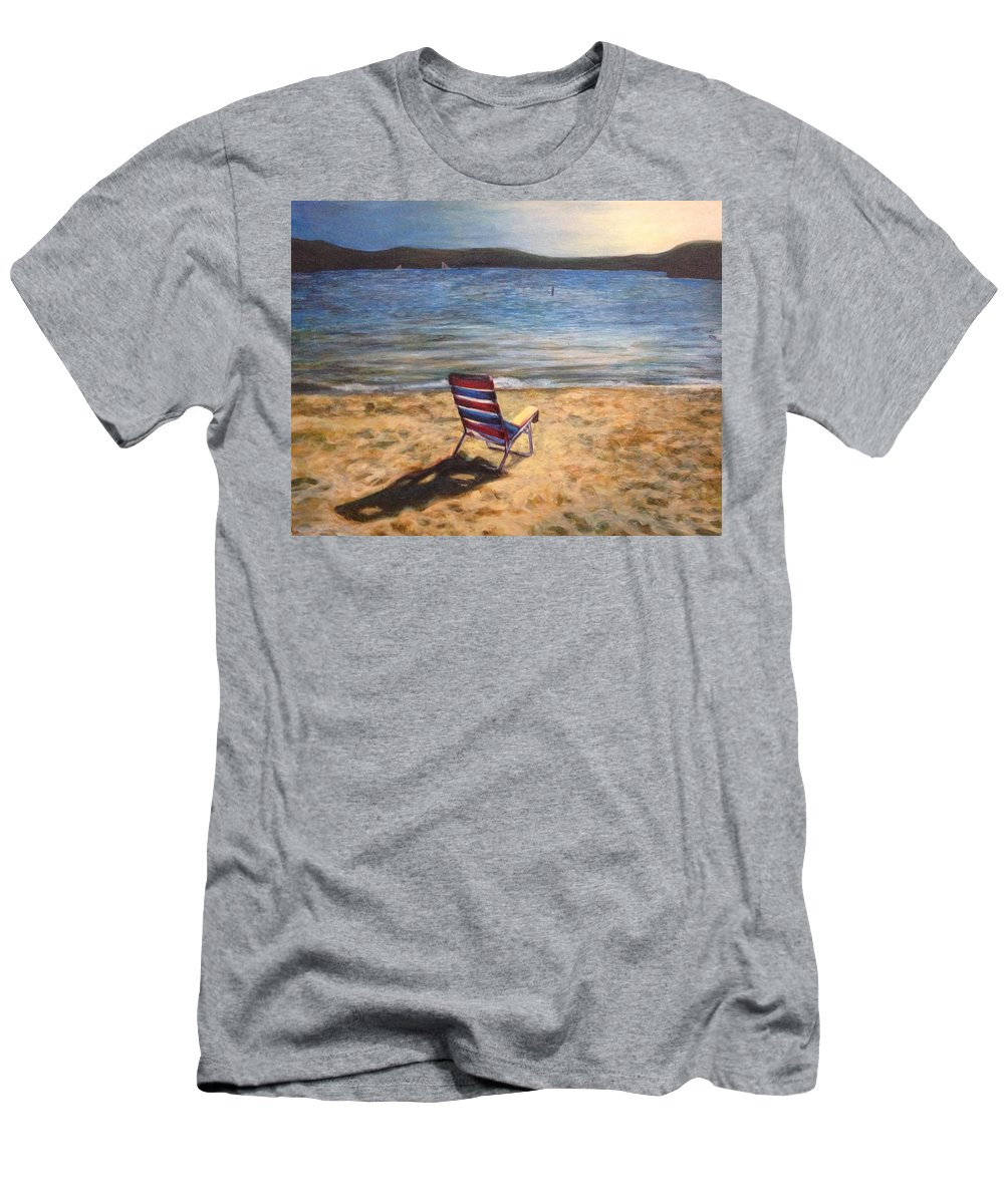 Painting Men's T-Shirt (Athletic Fit) featuring the painting End Of Summer by Katherine Boiczyk