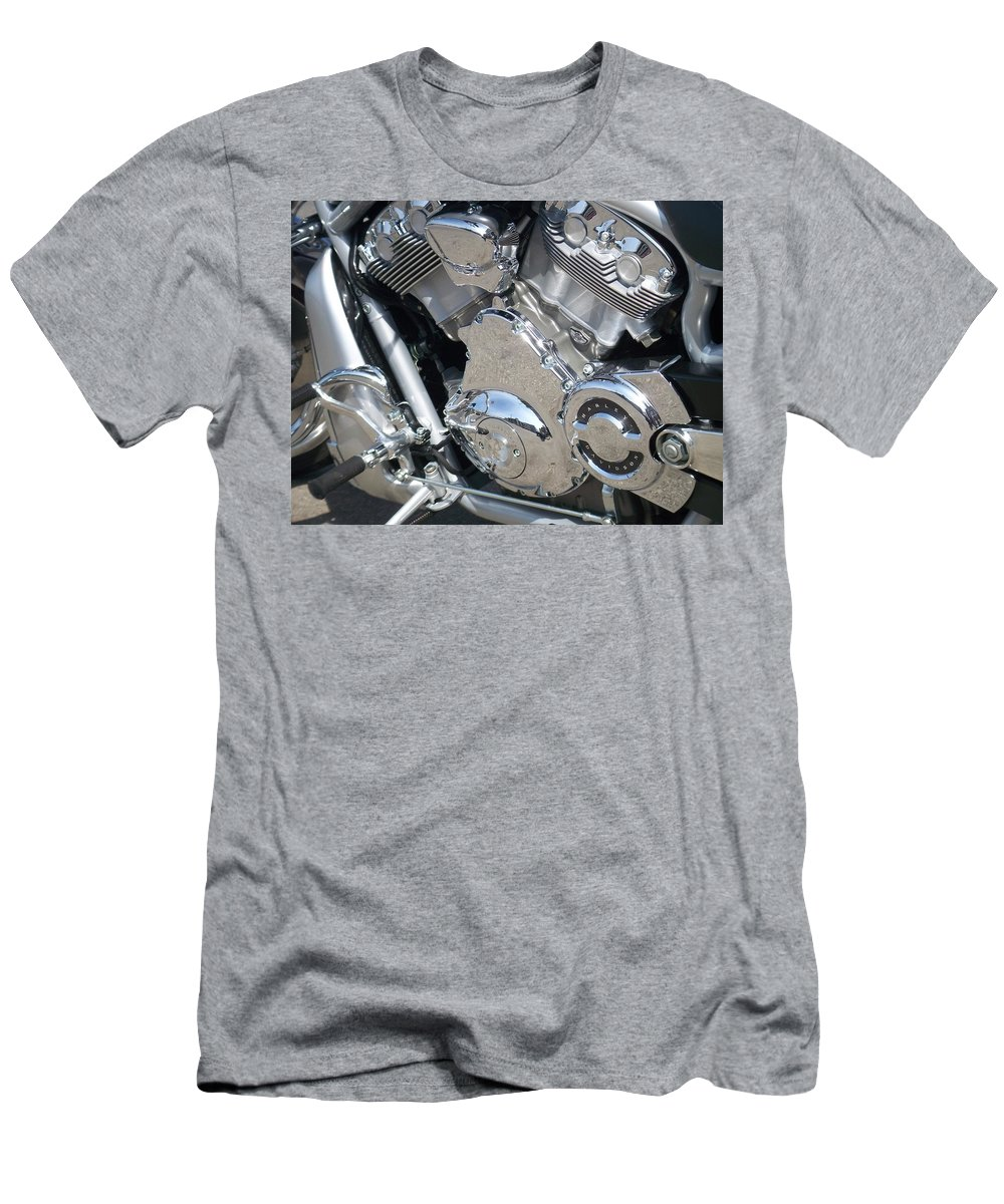 Motorcycles Men's T-Shirt (Athletic Fit) featuring the photograph Engine Close-up 3 by Anita Burgermeister
