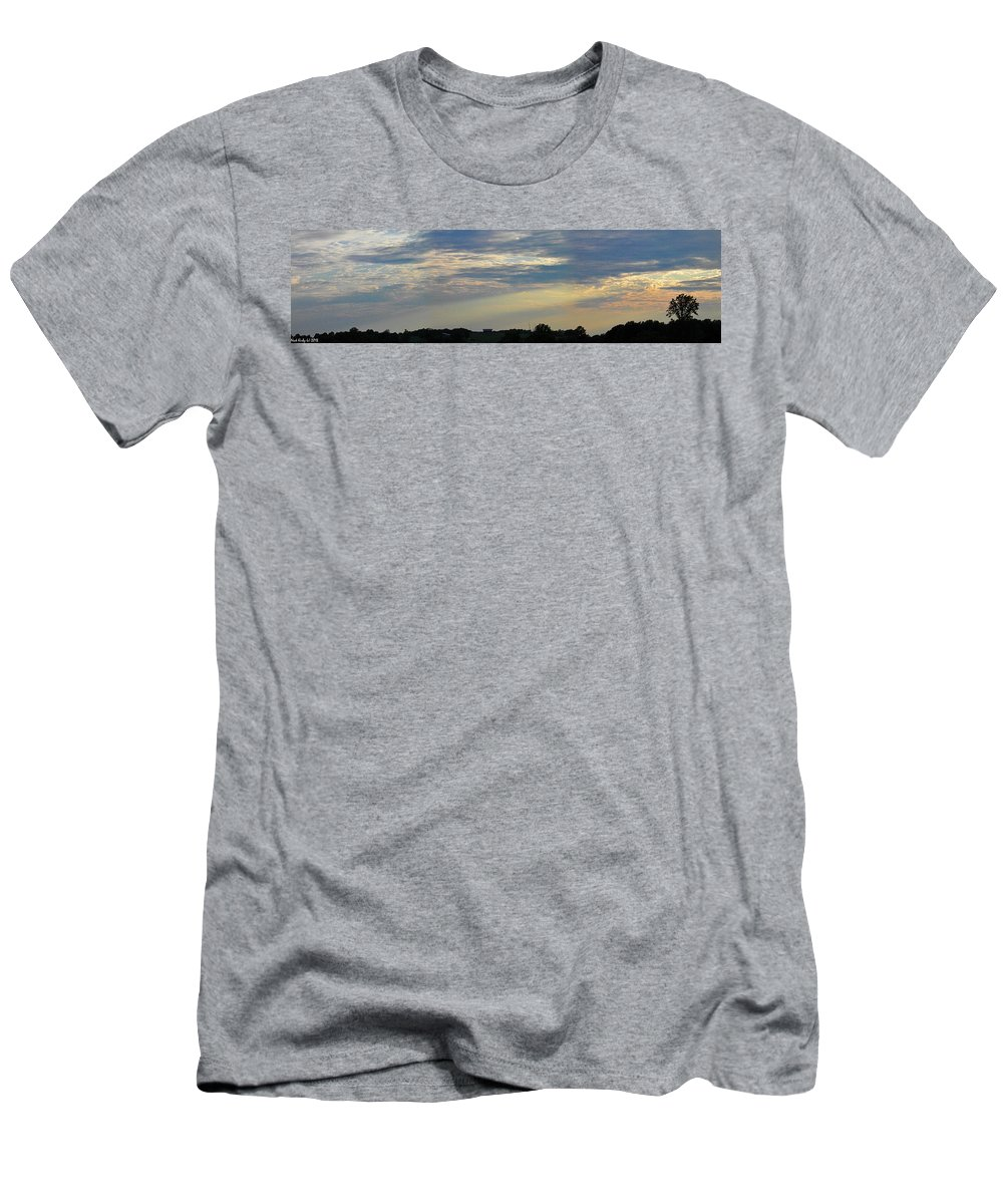 Sunset Men's T-Shirt (Athletic Fit) featuring the photograph Evening Rays by Nick Kirby