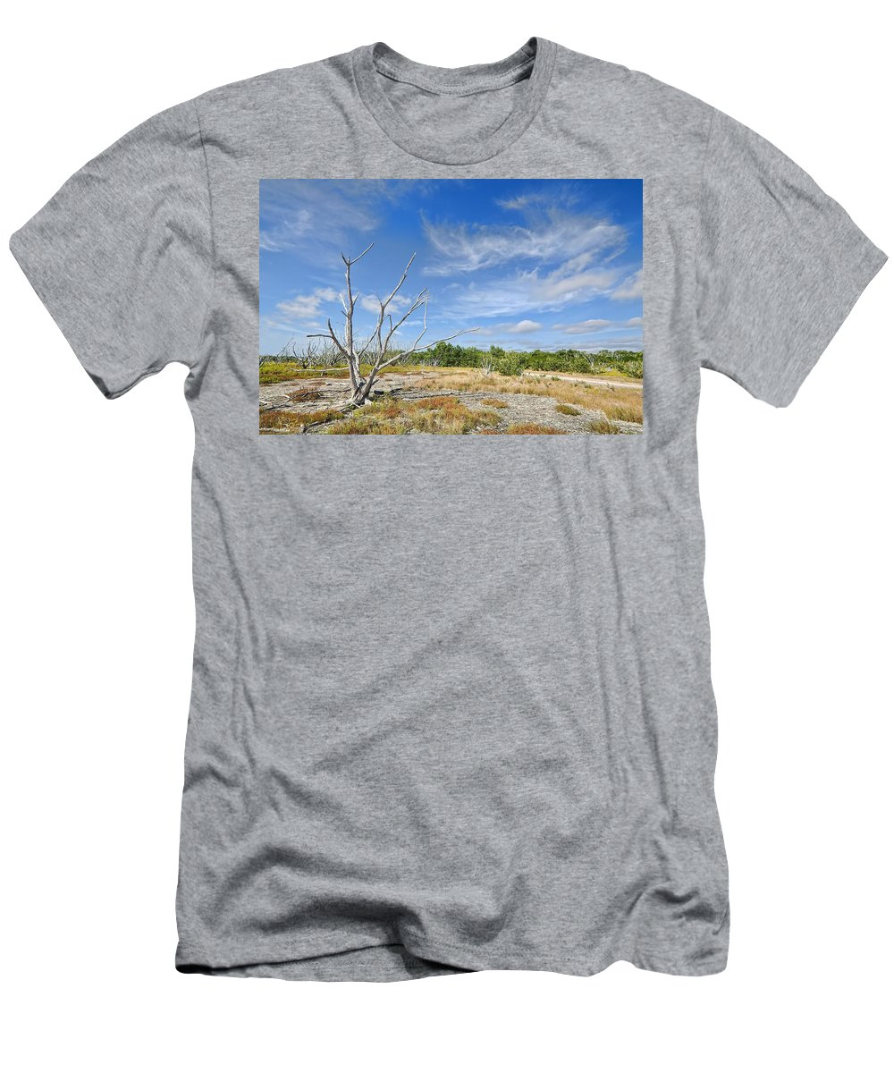 Travel Men's T-Shirt (Athletic Fit) featuring the photograph Everglades Coastal Prairies by Rudy Umans