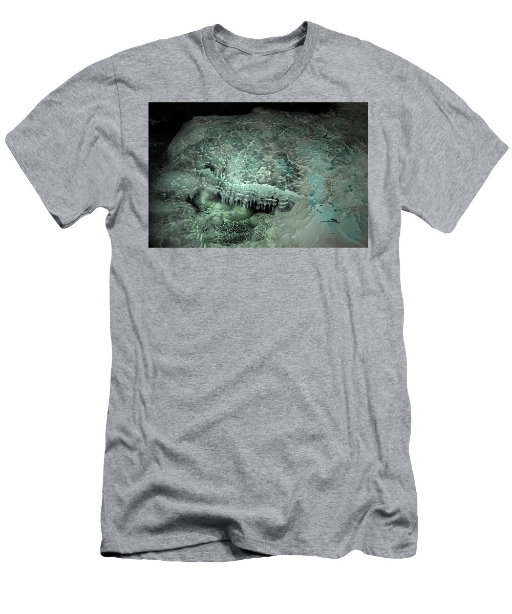 Ice Abstract Men's T-Shirt (Athletic Fit) featuring the photograph Eyecicle by Susan Capuano