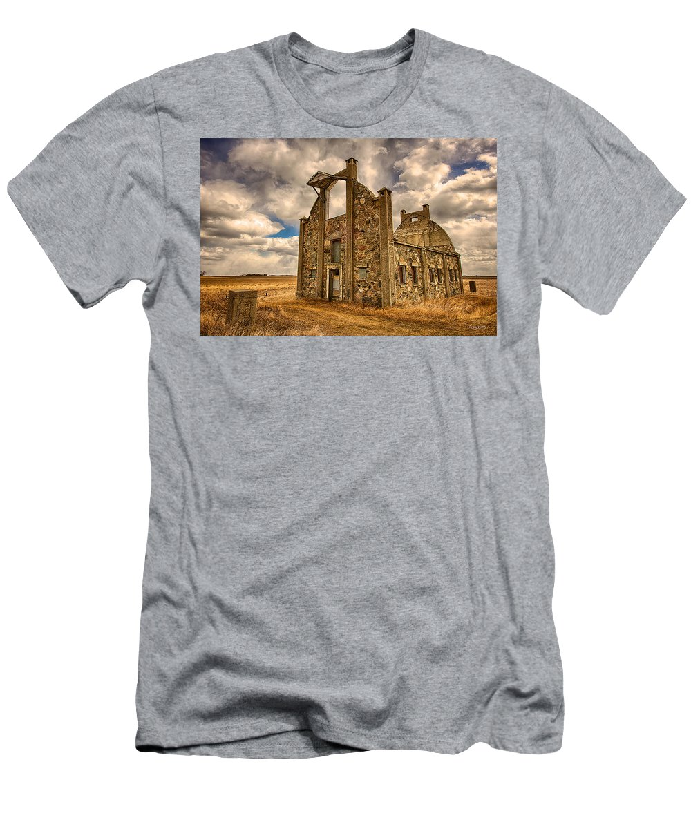 F. Schott Stone Barn Men's T-Shirt (Athletic Fit) featuring the photograph F. Schott Stone Barn by Craig Voth