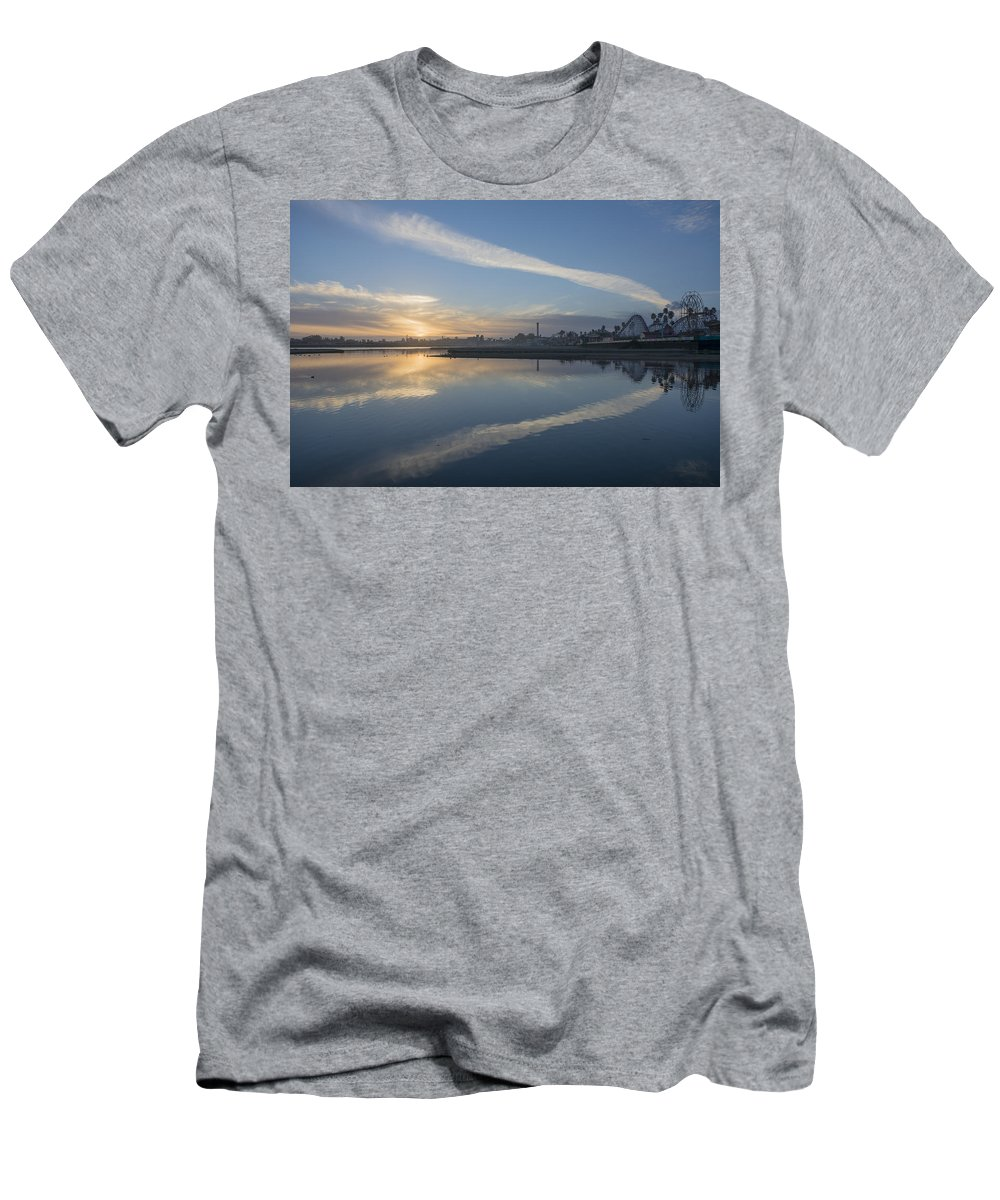 Sunset Men's T-Shirt (Athletic Fit) featuring the photograph Fall Sunset by Bruce Frye