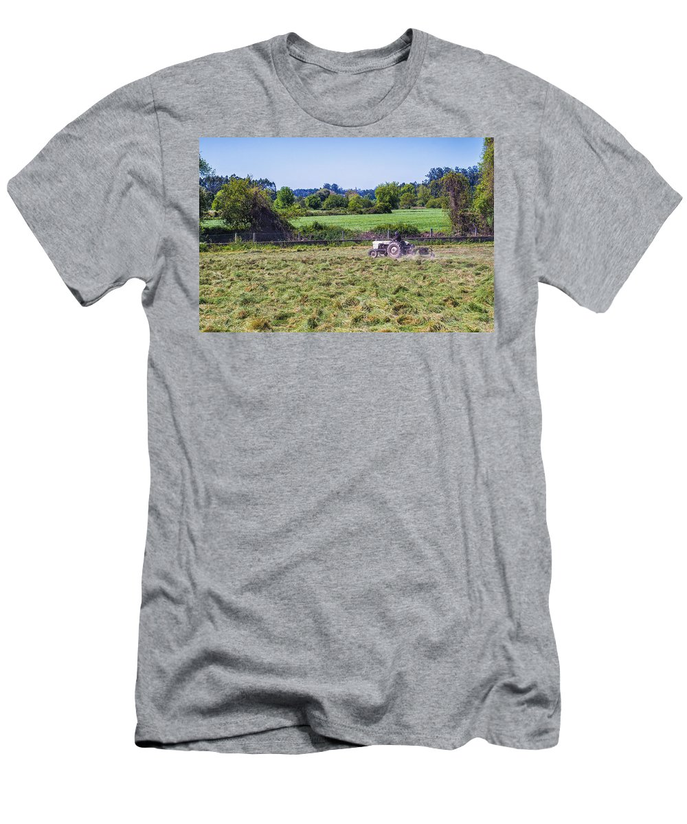 Farmer Men's T-Shirt (Athletic Fit) featuring the photograph Farmer by Paulo Goncalves