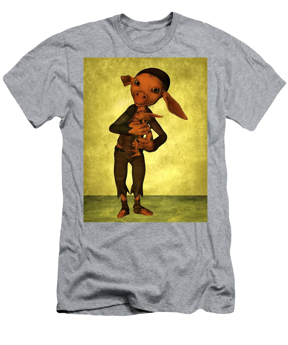 Child Men's T-Shirt (Athletic Fit) featuring the digital art Father And Son by Gabiw Art