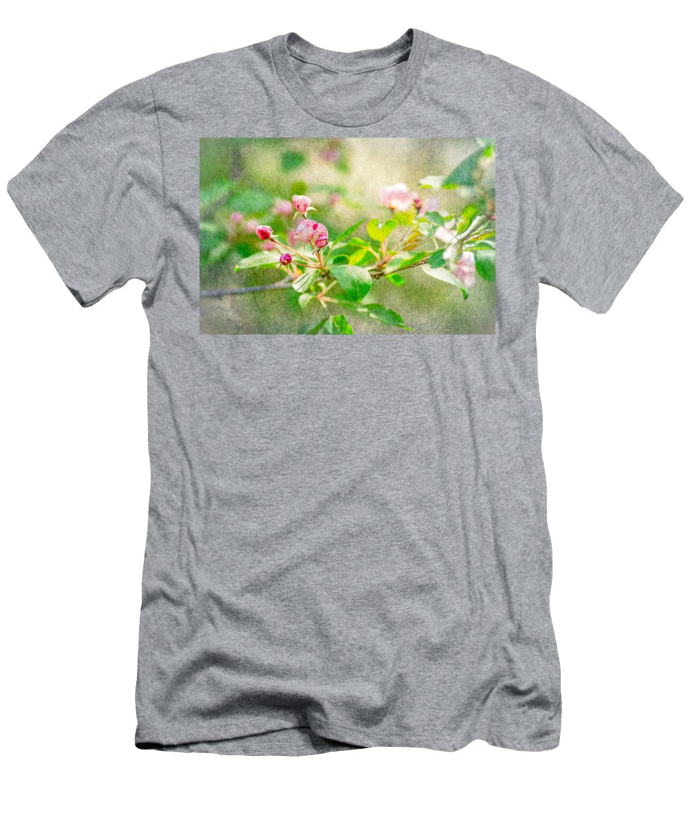 Flower Men's T-Shirt (Athletic Fit) featuring the photograph Feast Of Life 20 - Morning Mists by Alexander Senin