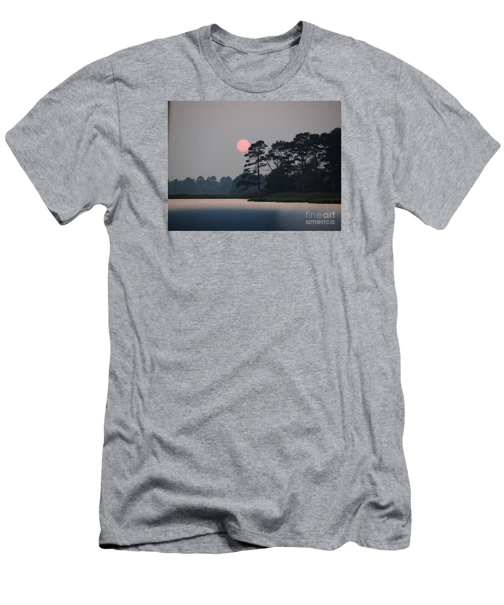 Sunset Men's T-Shirt (Athletic Fit) featuring the photograph Fenwick Island Delaware Sunset by Jennifer Craft