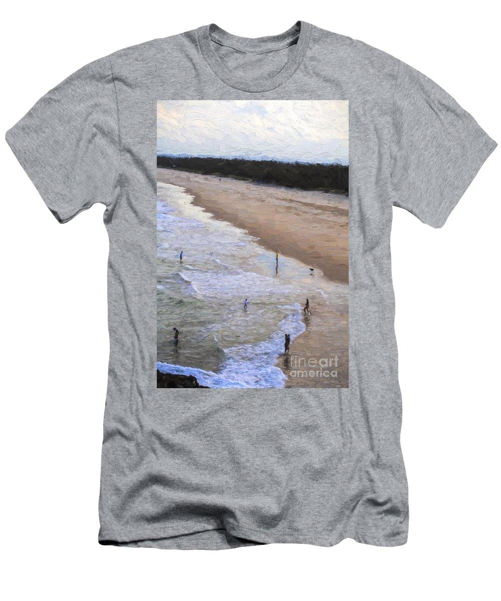 Australia T-Shirt featuring the photograph Fingal Beach by Sheila Smart Fine Art Photography