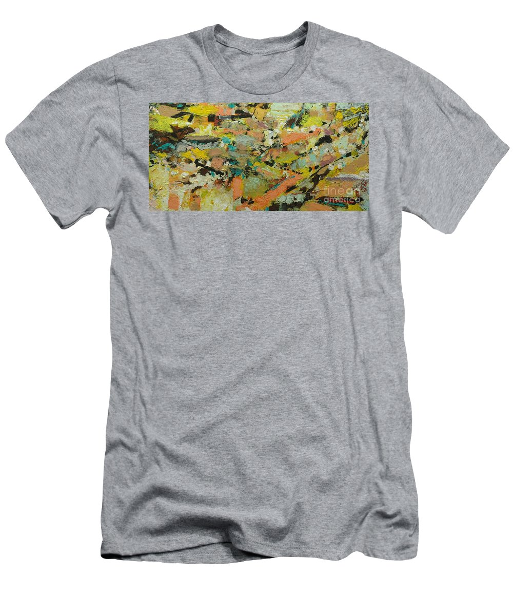 Landscape Men's T-Shirt (Athletic Fit) featuring the painting Fire Bird by Allan P Friedlander