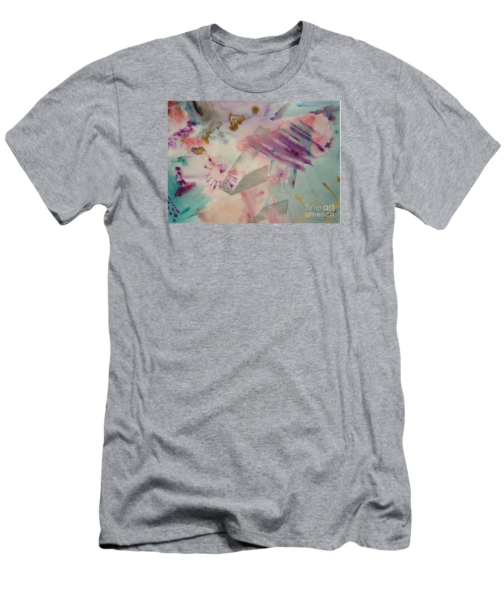 Abstract Men's T-Shirt (Athletic Fit) featuring the painting Fireworks by Graciela Castro