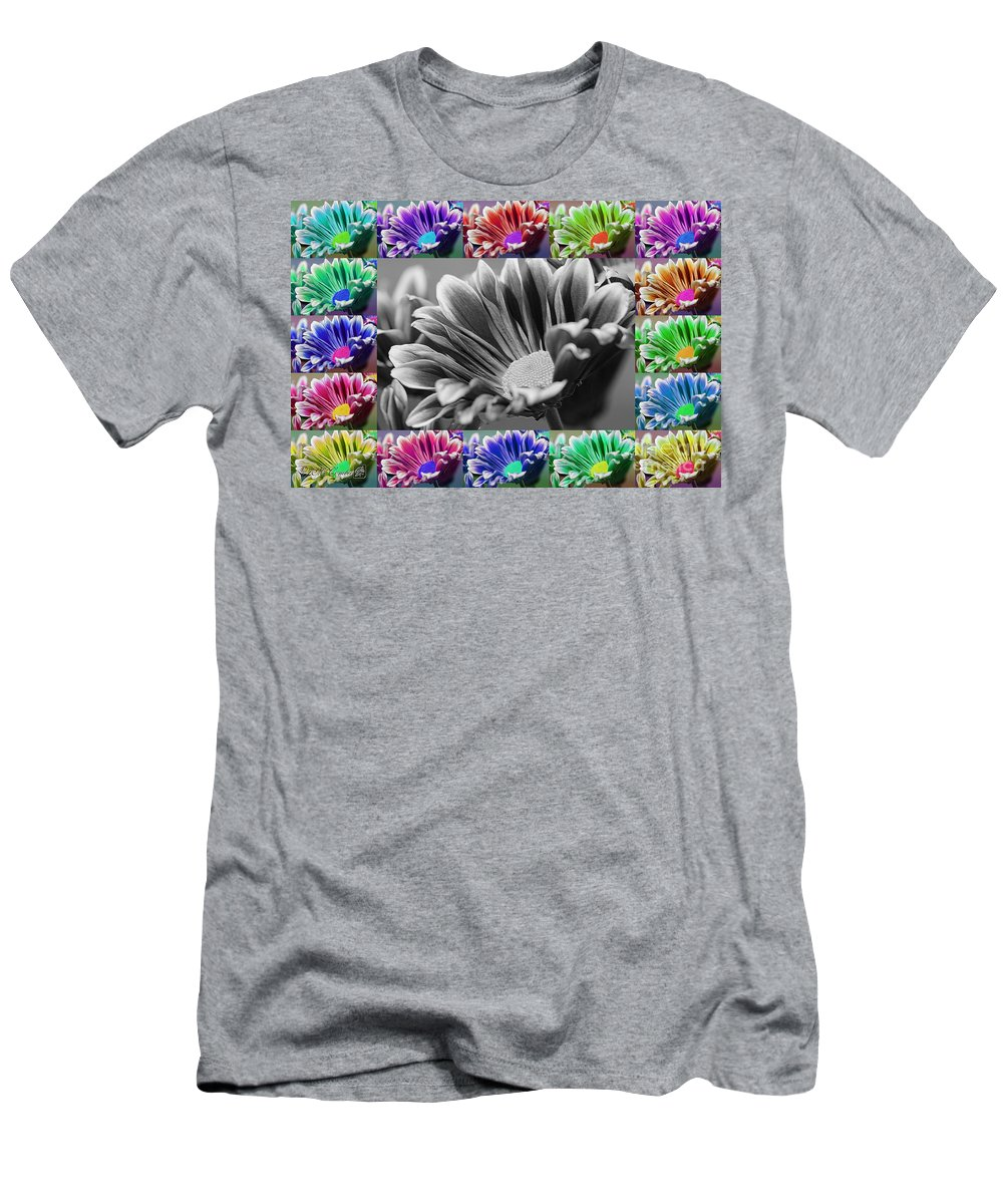 Mccombie Men's T-Shirt (Athletic Fit) featuring the digital art Firmenish Bicolor In All Shades by J McCombie