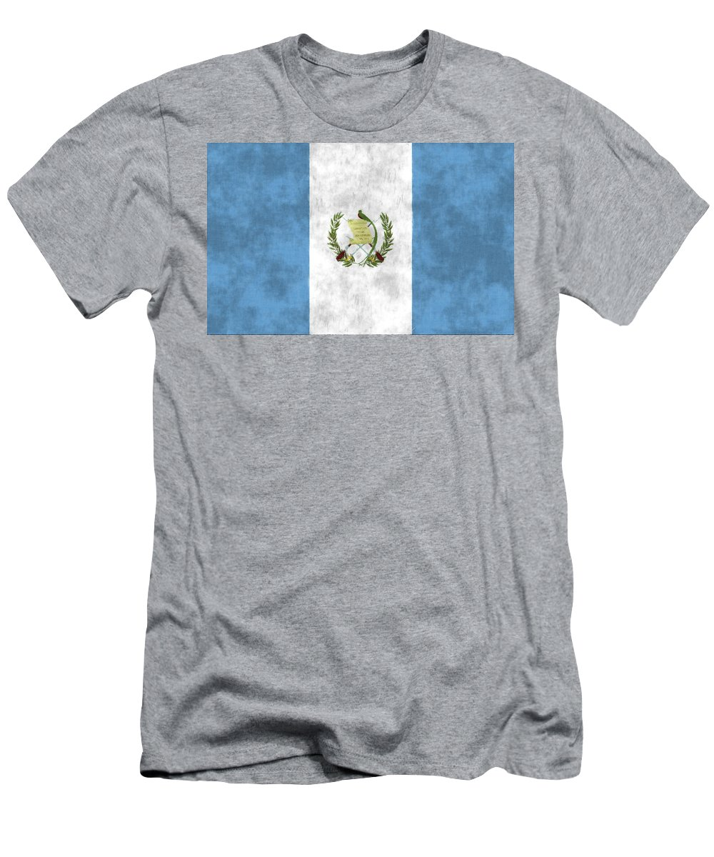 Central America Men's T-Shirt (Athletic Fit) featuring the digital art Flag Of Guatamala by World Art Prints And Designs