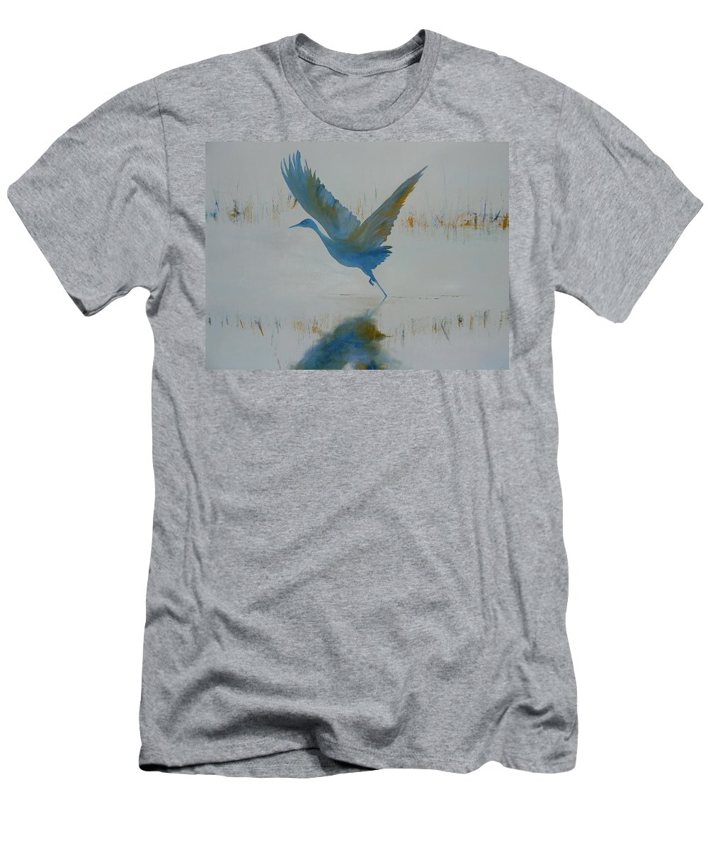 Bird Men's T-Shirt (Athletic Fit) featuring the painting Flight by Lord Frederick Lyle Morris