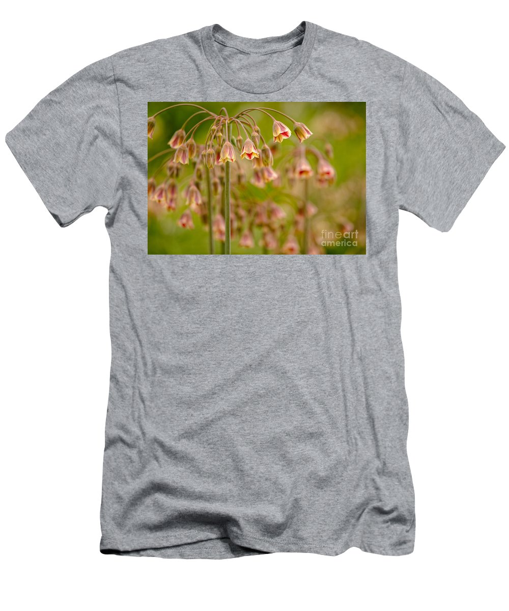 Flowers Men's T-Shirt (Athletic Fit) featuring the photograph Floral Umbrellas by Mary Smyth