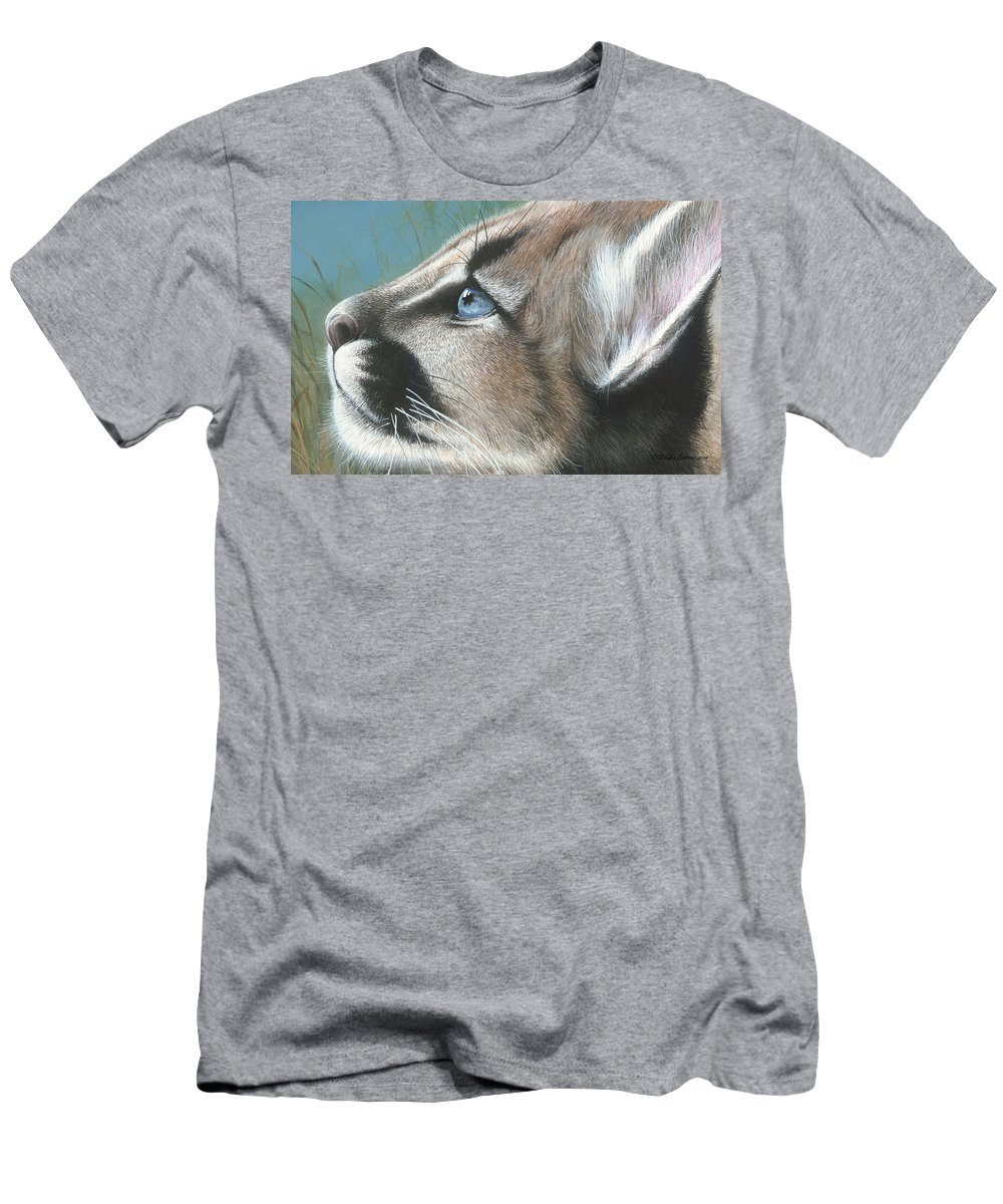 Florida Men's T-Shirt (Athletic Fit) featuring the painting Florida Princess by Mike Brown