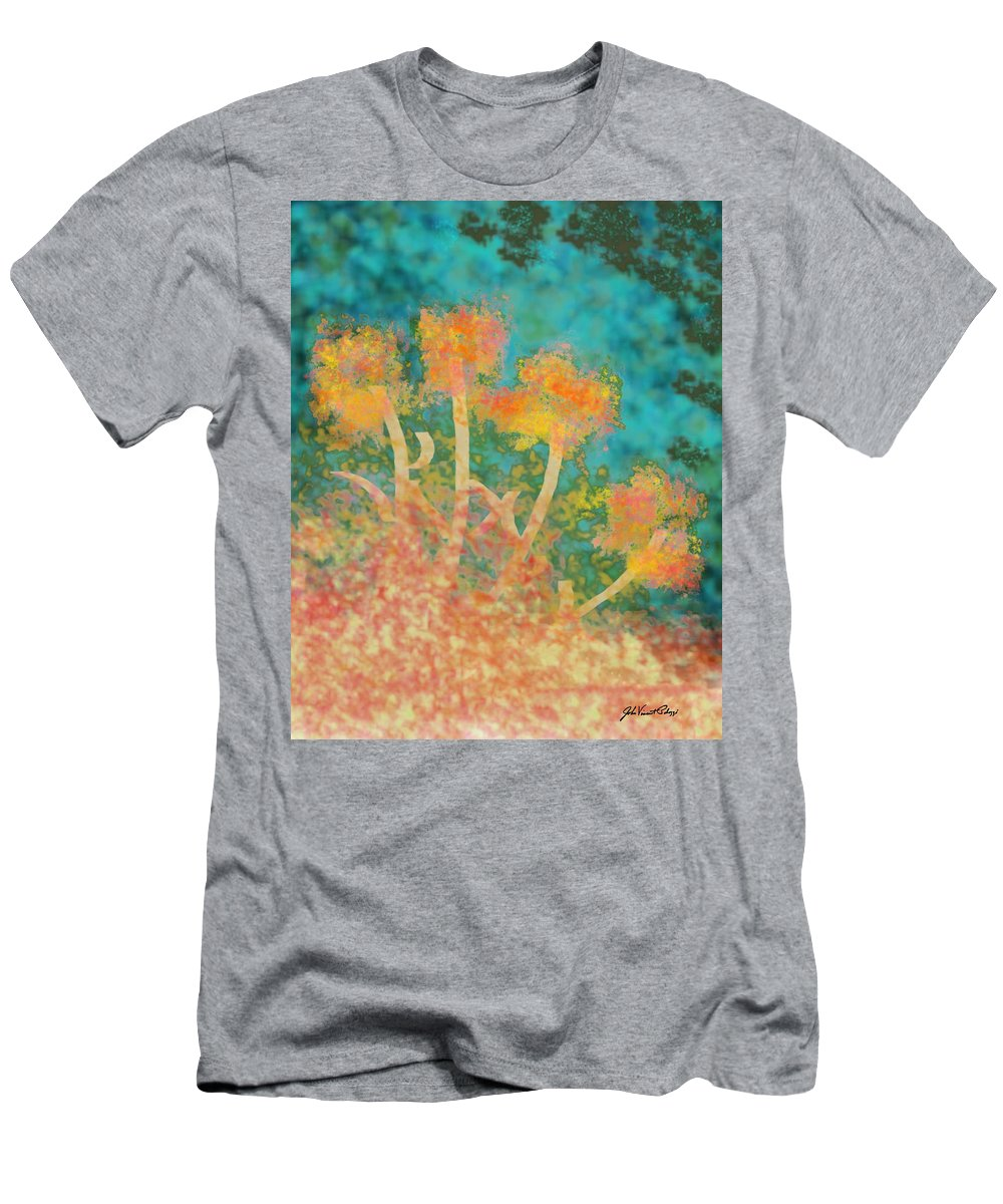 Digital Painting Men's T-Shirt (Athletic Fit) featuring the digital art Flowers 3 by John Vincent Palozzi