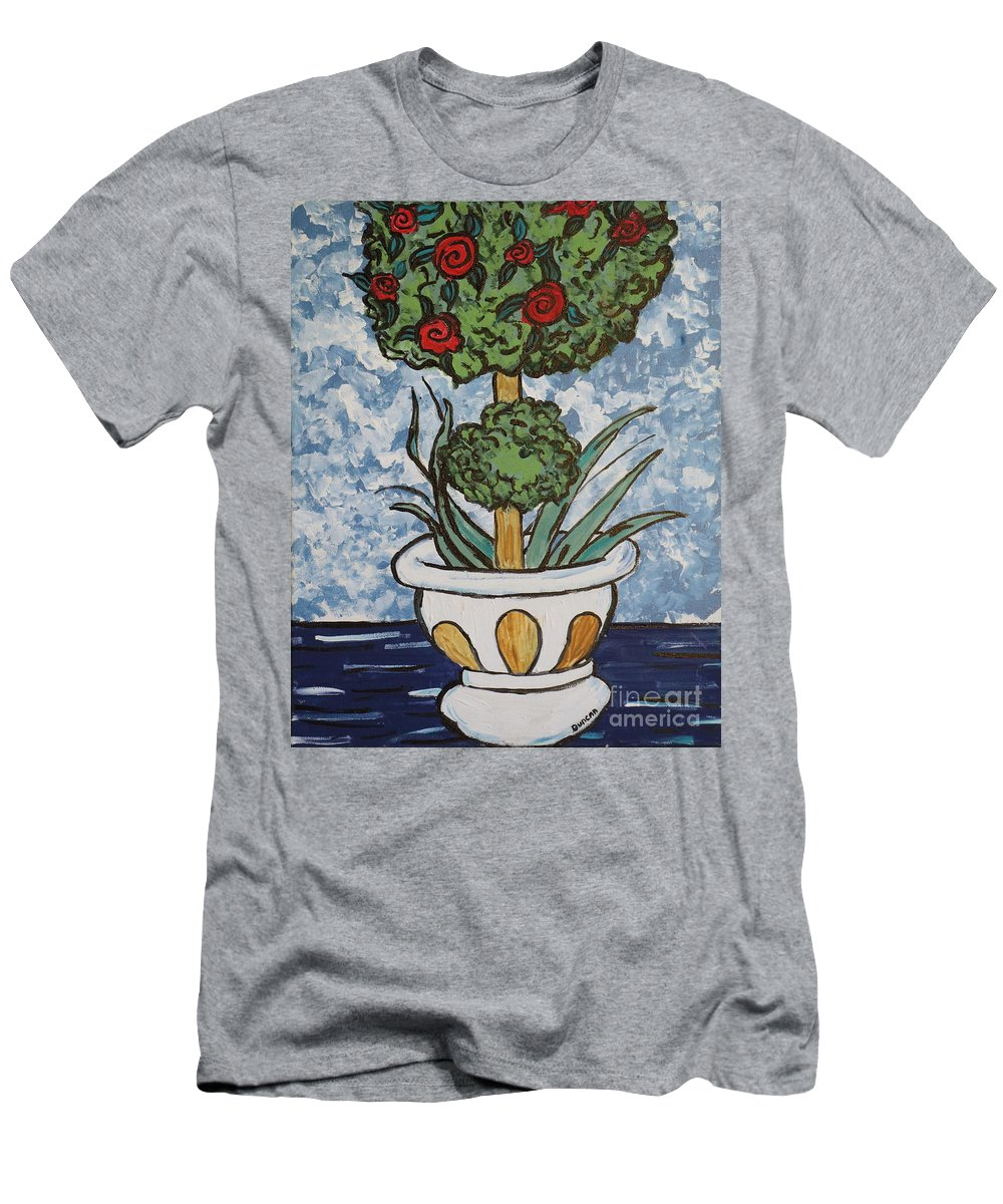 Van Gogh Men's T-Shirt (Athletic Fit) featuring the painting Flowers In Vase by Stefan Duncan